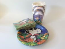 Snoopy, Halloween, PARTY PACK, 8 Cups, 8 Plates, 16 Napkins, Vintage Hallmark