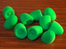 Perfect Poppers Soft Foam Blanks - T.C.S. Fl. Chartreuse, size #6 for Fly Tying