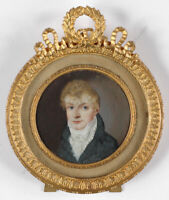 """""""Portrait of a young gentleman"""", French miniature, early 19th century"""