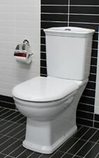 White RAK Washington Colonial Heritage Vintage Style Closed Coupled Toilet Suite