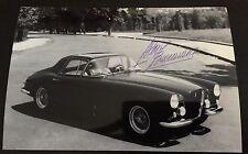Photo Signed Designer Pininfarina Aldo Brovarone Ferrari 375 Coupe Speciale