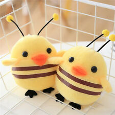 13cm Cute Chicken  To Honey Bee key Chain Small Plush Toy Key Ring Pendant
