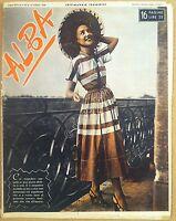 Rivista moda abiti - Alba - 23 Luglio 1949 - Anno XXVII n° 30 - Fashion Costume