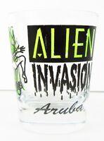 Alien Invasion Aruba Shot Glass New Barware Souvenir Collectible