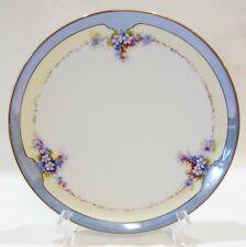 """Vintage Art Deco Lusterware Plate Hand Painted Made In Japan Noritake """"M"""" Wreath"""
