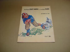 S.F. FORTY NINERS VS LOS ANGELES RAMS ~ GAME DAY PROGRAM ~ SEPTEMBER 25, 1955
