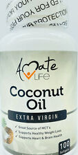 Amate Life Coconut Oil - Metabolism Booster - High Source of MCT's- 100 Softgels