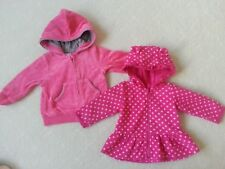 NEW!!!!  2 Pcs Baby Girls Winter Cardigans with Hood, Size 00