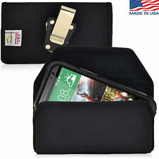 Turtleback HTC One M8 Nylon Pouch Holster With Metal Belt Clip Fits Incipio Case