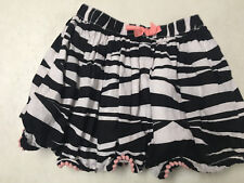 GYMBOREE  ANIMAL PARTY ZEBRA STRIPED COTTON SKIRT  GIRLS  SZ   6