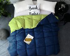 🔥🥇Goose Down Alternative Reversible 2 Piece Comforter Set | King, Lime/Blue