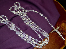 Silver Metal Ball Crystal Wedding Lasso Rosary - Crystal Wedding Lazo de Boda