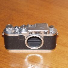 Leica IIf 35mm film camera 613317 RED DIAL CHROME Leitz WETZLAR GERMANY 1952