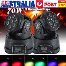 70W RGBW LED Moving Head Stage Light 7 Led Lamp DMX512 Disco Party Par W/ Remote