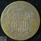 1864 Two Cent Piece, About Good Condition, Free Shipping, Civil War Era, C5477 for sale