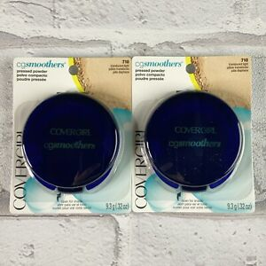 Covergirl CG Smoothers Pressed Powder Sealed 710 Translucent Light Lot Of 2