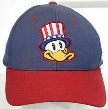 Vintage Springfield Ozark Mountain Ducks Strapback Cap - Zephyr Hat - Blue & Red