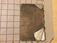 Vintage book - 1849 -- pocket ledger - SURVEY BOOK -