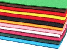 12 Platten Bastelfilz  20x30 cm Filzplatten 2mm-3mm Mix 2 Filz Schlüsselbandfilz