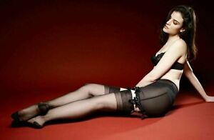 Serena RHT 100% Nylon Mesh Garter Stockings 30 Denier Nylon Hosiery by Elly