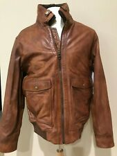New Camel Active men's LAMBS LEATHER jacket coat cognac EU 52 , 42 US