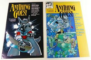 Fantagraphics ANYTHING GOES! (1986) #2 3 Alan Moore VF/NM to NM- LOT Ships FREE!