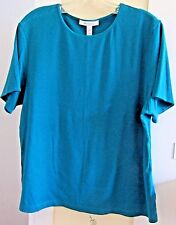 NEW Short Sleeve TEAL Knit Top~Size XL~Cotton Blend~Drop Dead Gorgeous~NWOT