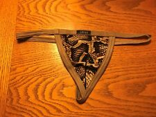 Gregg Homme Snake Python G-String Thong Size XS