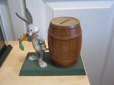 Vintage Bugs Bunny Barrel Bank - Beautiful Metal Coin Bank 1940's