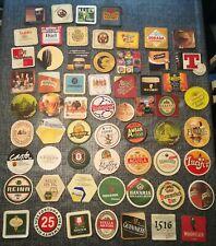 Lote Colección de 61 Posavasos Antiguos de Cervezas