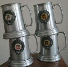 VINTAGE NATIONAL/AMERICAN LEAGUE ALUMINUM BEER MUGS