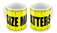 SIZE MATTERS Funny Novelty Gift Mug
