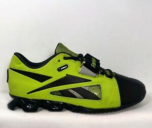 Reebok Crossfit Uform Lifter Oly Olympic lifting shoe Mens Sz 8 Black/Green