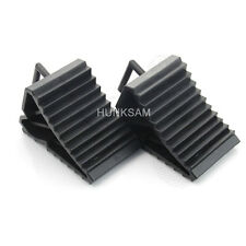 2Pcs/Pair Wheel Chocks With Handle Black Caravan Motorhome Trailer Car Horsebox