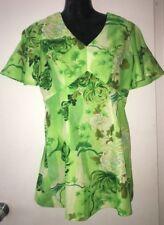 VINTAGE ROYAL HAWAIIAN 8 10 M Empire Waist Mini Dress Flounce Sleeve floral