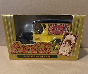 1923 Chevy Yellow Delivery Van COCA COLA Truck Die-Cast Metal Bank