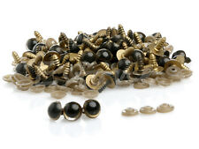 10 pairs of 12mm Gold Safety Teddy Bear Eyes. 20 units Washers Soft FREE POSTAGE