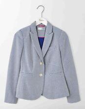 Boden Elizabeth British Tweed Blazer Blue Size UK 10 Lf170 KK 01