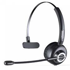 WIRELESS HEADPHONE w BOOM MIC HEADSET EARPHONE NOISE CANCELING for CELL PHONES