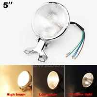 "Motorcycle Headlight 5"" Hi/Lo Beam Head Lamp For Harley Bobber Chopper Touring"