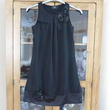 Ax paris court noir robe de soirée taille 8 excellent