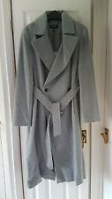 Karen Millen Coat Italian Wool Fabric Size 14 Grey