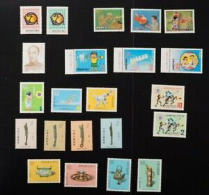 Taiwan lot of 8 different VF MNH complete sets 2017 cv$24.70 (k004)
