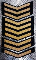 Genuine British Naval MoD Royal Navy RN Gold Chevrons Patch badge - Brand New