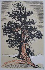 SCHMIED FRANÇOIS –LOUIS (1873-1941) : L'arbre. Bois original. 1921