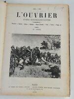 N9 Ancien Journal hebdo Illustré L'ouvrier 1890-1891 30eme Année Paris Bleriot