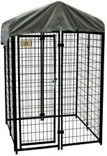 4 ft. x 4 ft. x 6 ft. Dog Fence Welded Wire Steel Kennel Kit w/ Waterproof Cover