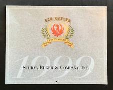 Sturm Ruger Firearms Advertising Calendar 1999 Wall Hanging Guns Fifty Years