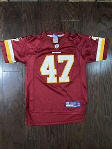 Washington Redskins NFL Football #47 Chris Cooley Jersey Youth Size Medium Red