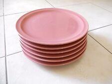 lot de 6 assiettes en céramique rose